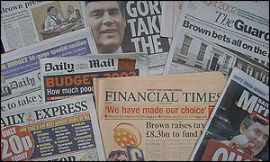 Newspapers on Thursday, 18 April, 2002