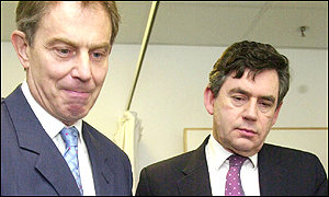 Prime Minister Tony Blair and Chancellor Gordon Brown