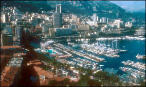 Monte Carlo harbour in Monaco, where the super rich and famous visit, usually as a tax haven