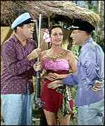 In a 'Road To...' movie with Bing Crosby and Dorothy Lamour