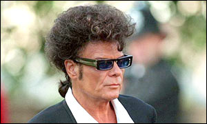 Gary Glitter who was jailed in 1999