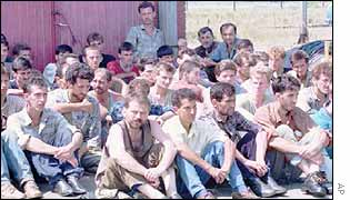 Omarska detention camp in Bosnia (1992)