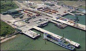 The port of Marchwood is in effect a huge ferry port and railway yard