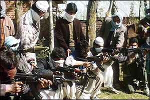 The Kashmir Liberation Front photographed in the early 1990s