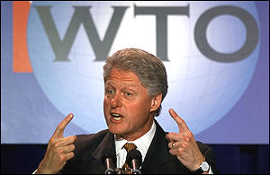 Mr Clinton said the WTO should do more to win over its critics