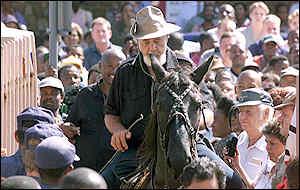 Terreblanche on horse