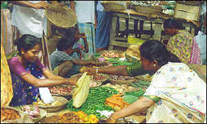 Women selling sabzi