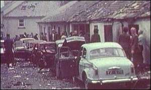 Scene after 1972 Claudy bombing