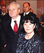 Mira Markovic and Slobodan Milosevic