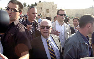 Ariel Sharon makes his fateful visit to Jerusalem