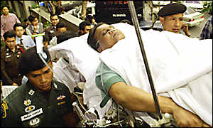 Chhota Rajan on stretcher