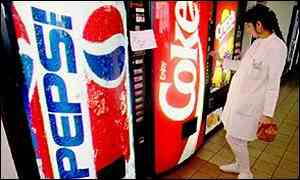 Pepsi and Coke vending machines