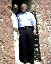 Bush deplores 'crime' of slavery