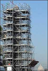 Rome obelisk prepares for journey home