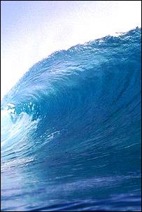 Huge waves eroding British coast