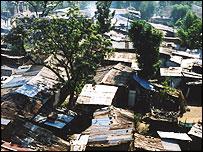 View of hut dwellings in Harar