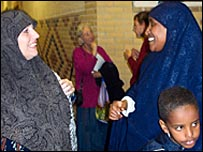 Yvonne Ridley at the Medina Mosque, Southampton