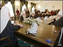 Во время переговоров Митрополита Лавра и партриарха Алексия II