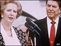 Bbc News Americas Full Text Thatcher Eulogy To Reagan