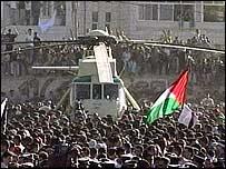 Вертолет с гробом Арафата
