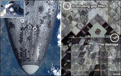 space shuttle atlantis tile damage - photo #17
