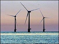 Wind farm off the Norfolk coast