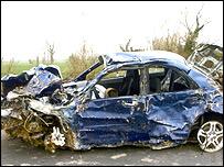 Car Crash Car Crash In Royston Herts
