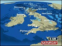 Bbc Weather Map BBC NEWS | Entertainment | Viewers force BBC forecast change Bbc Weather Map