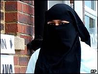 Muslim woman in headscarf