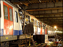 Aldgate bomb wreckage - Metropolitan Police/PA