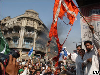 The protests in Karachi on Friday