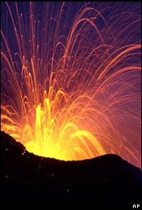Volcanic eruptions score melodies