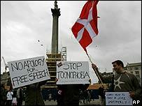 Trafalgar Square free speech protest