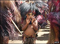 A boy from the Lakoku tribe in Papua New Guinea