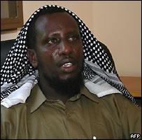 Islamic courts chairman Sharif Sheikh Ahmed