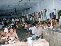 An overcrowded jail in Bihar