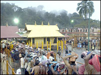 The temple attracts thousands of male devotees [Pic: Anil Warrier]