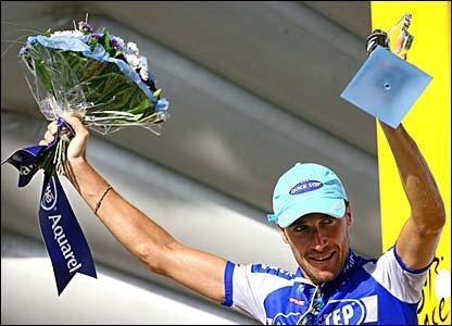 Tossato on the podium