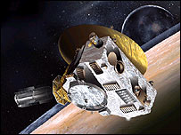 Artist's impression of New Horizons probe, Nasa