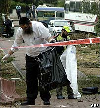 Israeli rabbis recover human remains after missile attack