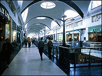 Bluewater shopping centre in Kent