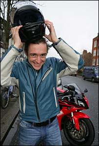 bbc news entertainment first bike ride 39 elates 39 hammond. Black Bedroom Furniture Sets. Home Design Ideas