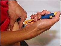 تزریق انسولین به عضله شکم