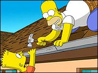 Bbc News Entertainment Press Views The Simpsons Movie