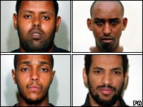 Muktar Ibrahim, Yassin Omar, Ramzi Mohammed and Hussain Osman  (clockwise from top left)