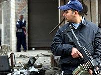 Policeman in Baghdad
