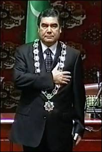 Great Turkmen Leader not evil twin of Cock of Campbells bay