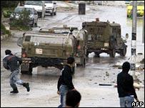 An Israeli raid in Nablus. File photo