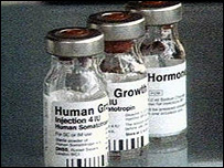Bottles of Human Growth Hormone