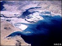 بخش شمالی خلیج فارس در ناحیه اروند رود
